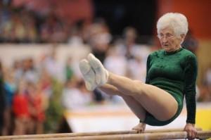 mujer gimnasta