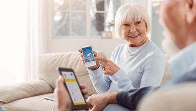 Redes sociales y personas mayores, grupo retiro