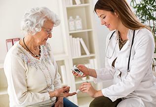 diabetes en personas mayores, grupo retiro